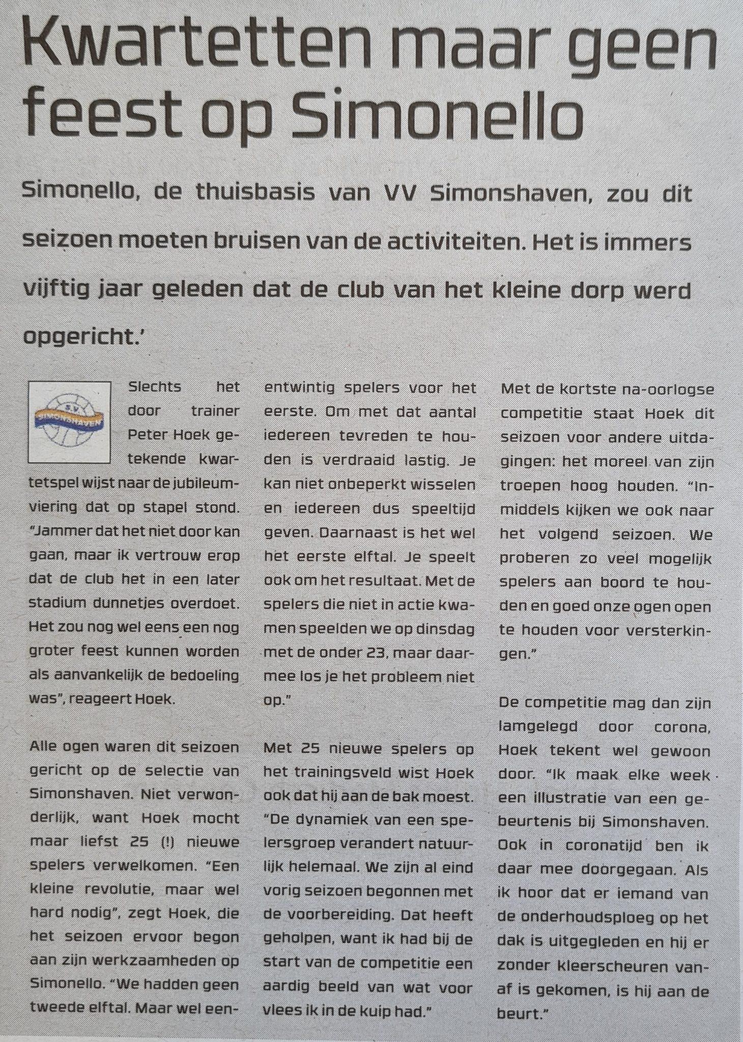 Nog geen feest op SV Simonshaven